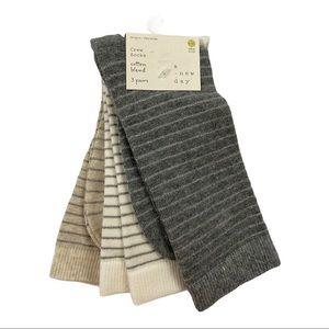 4/$20 A New Day 3-pack  Shimmer Stripe Crew Socks